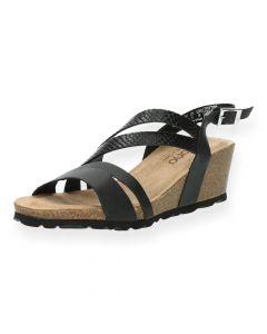 Zwarte sandalen Cadiz