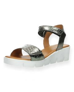 Metallic sandalen sleehak