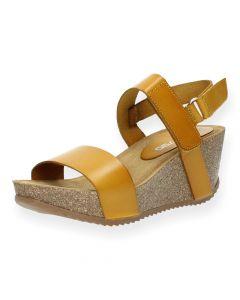 Oker sandalen sleehak
