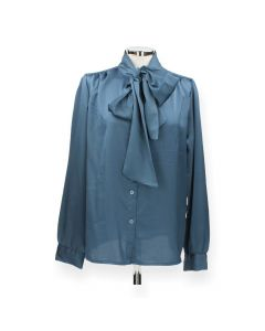Blauwe blouse Strik