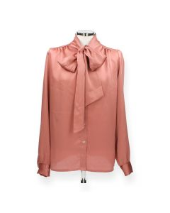 Roze blouse Strik