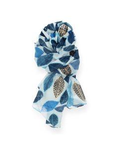 Blauwe sjaal Leaf