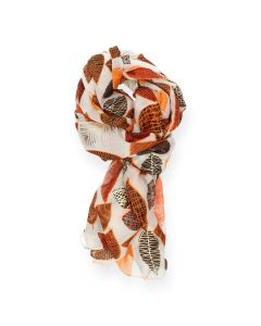 Oranje sjaal Leaf