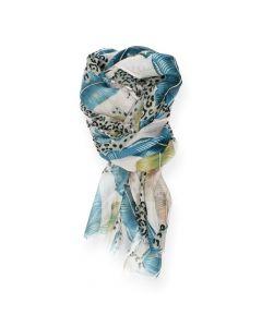 Blauwe sjaal Leopard