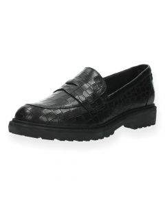 Zwarte loafers Croco