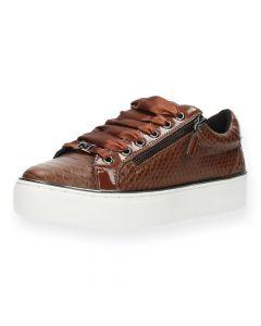 Bruine sneakers Snake