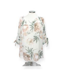 Witte blouse Flower