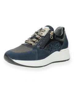 Blauwe sneakers Gold