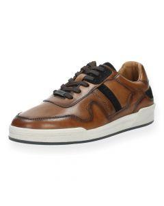 Cognac sneakers Fabio