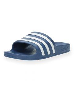 Blauwe poolslides Adilette