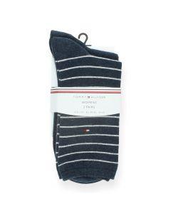 Blauwe kousen Small Stripes