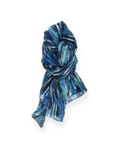 Blauwe sjaal Stripes