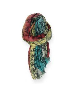 Multicolour sjaal Snake