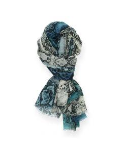 Blauwe sjaal Snake
