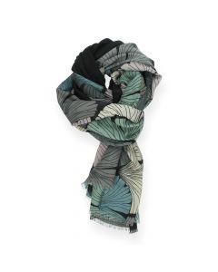 Multicolour sjaal zwart