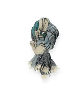 Blauwe sjaal Multicolour