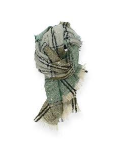 Groene sjaal Multicolour
