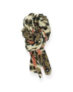 Multicolour sjaal Dierenprints
