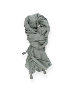 Grijze sjaal Trosjes