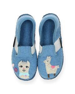 Blauwe pantoffels Tonndorf