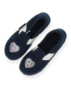 Blauwe pantoffels Thalmassing