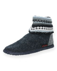 Blauwe pantoffels Kiel