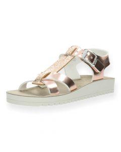 Metallic roze sandalen Nicea 3