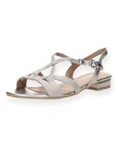 Lichtroze sandalen met hak
