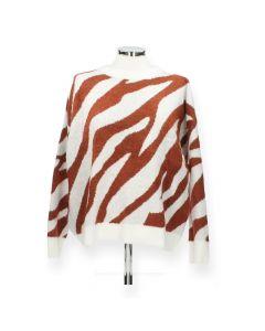 Bruine trui Zebra