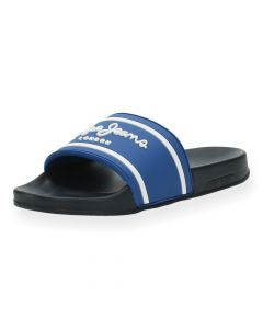 Blauwe poolslides Slider Logo