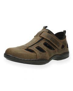 Bruine schoenen met velcro