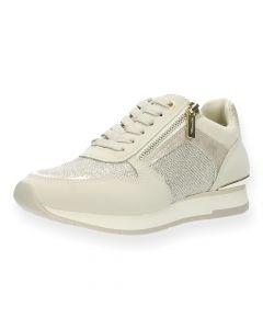 Beige sneakers glitter