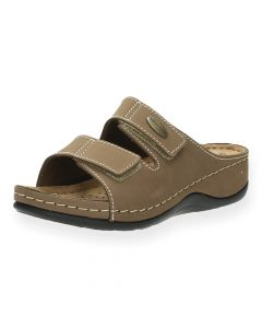 Beige slippers