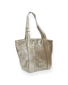 Metallic roze shopper