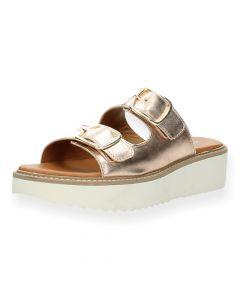 Metallic roze slippers