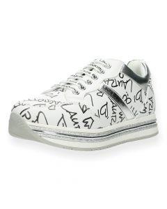 Witte sneakers Black