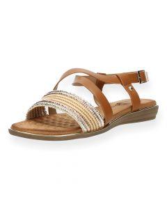 Lichtbruine sandalen
