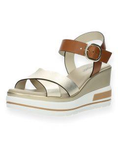 Multicolour sandalen met sleehak