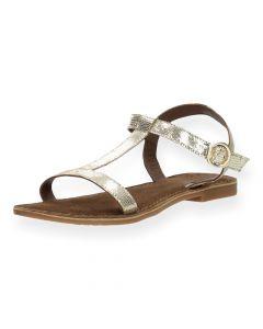 Gouden sandalen Gabiano