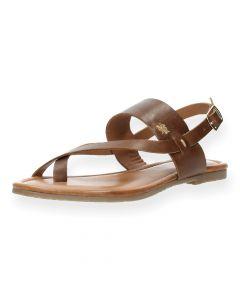 Cognac sandalen Evelinn