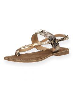 Slangenprint sandalen Gerona