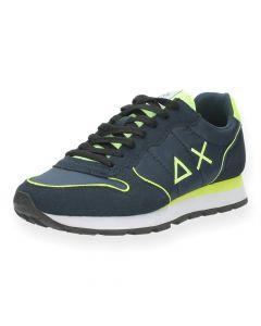 Blauwe sneakers Tom Fluo