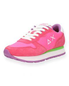 Felroze sneakers Ally Solid