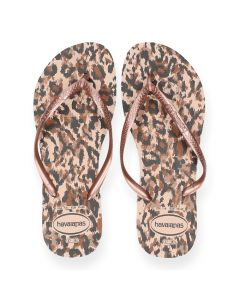 Roze teenslippers Slim Animals