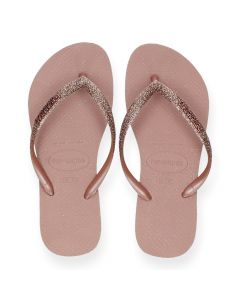 Roze teenslippers Slim Glitter
