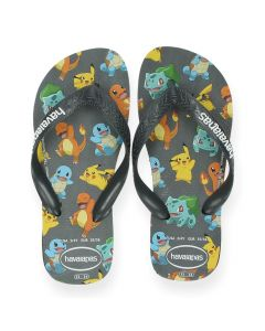 Grijze teenslippers Pokémon