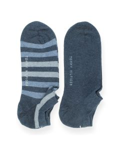 Blauwe kousen Sneaker Stripe
