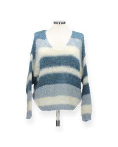 Blauw gestreepte trui