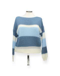 Blauwe gestreepte trui