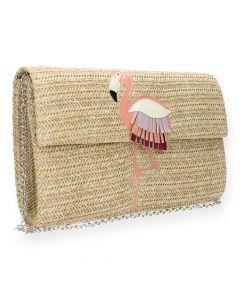 Beige clutch Flamingo